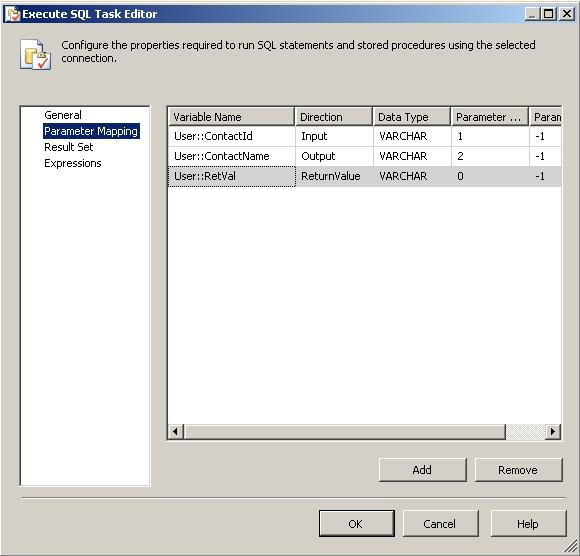 execute oracle stored procedure ssis package