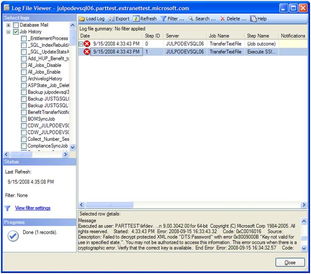 Error Log: Scheduling SSIS Packages With SQL Server Agent « Systems